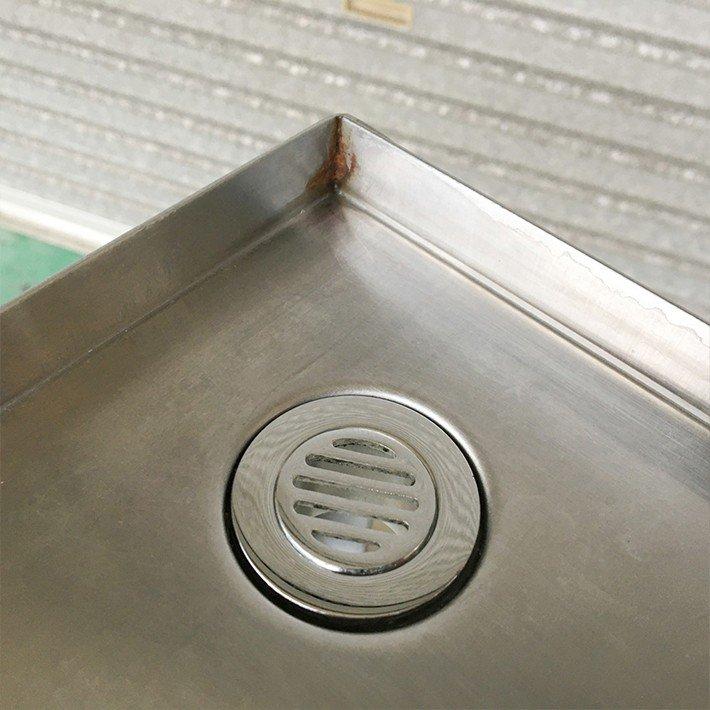 中古 店舗用品 ピッチャーリンサー 固定台付き 幅1200 奥180 高200mm カップ瞬間洗浄 コーヒー用品 バリスタ用品