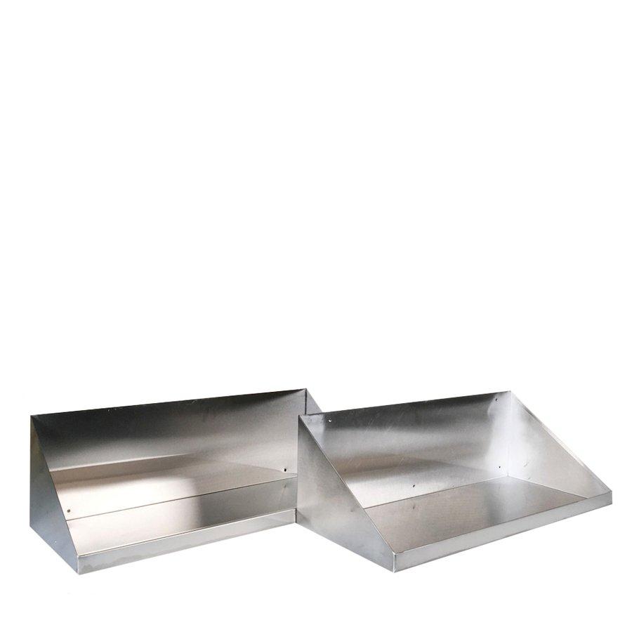 中古 厨房機器 メーカー不明 背板つき上棚 平棚 2個セット 幅600 奥260 高200mm 業務用厨房ラック 厨房用品 吊棚 調味料棚