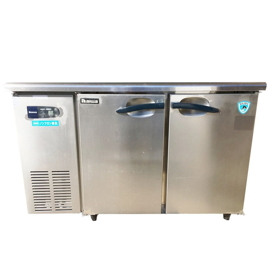 中古 厨房機器 2012年製 大和冷機 高湿氷温冷蔵コールドテーブル 4161HC A 幅1,200 奥600 高800mm 台下冷蔵庫 単相100V
