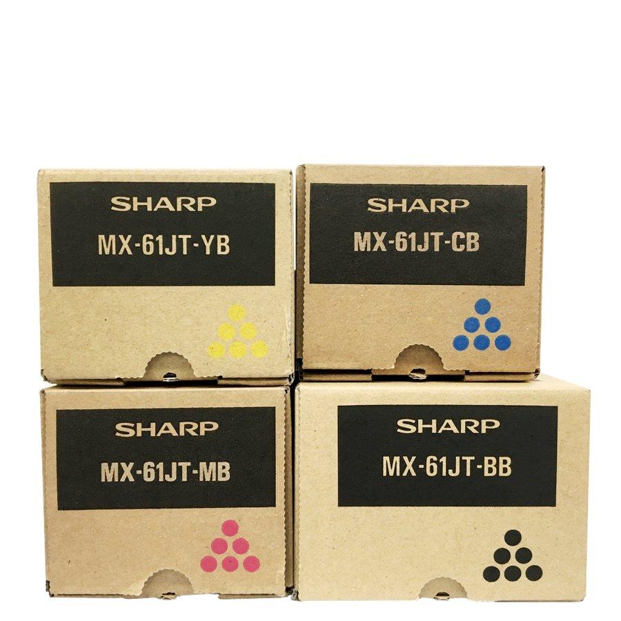 シャープ トナーカートリッジ MX61JT 4色セット 小容量 MX2650FN MX3150FN MX3650FN MX2631 MX3631 MX2661 MX3161 MX3661 他