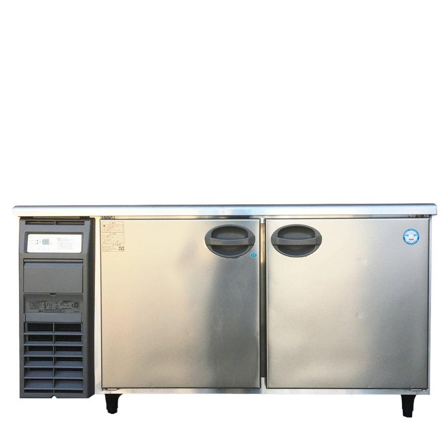 中古 厨房機器 2018年製 フクシマ 冷凍 冷蔵庫コールドテーブル YRW 151PM2 幅1500 奥750 高800mm 店舗用品 庫内灯付き