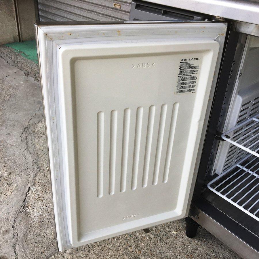 中古 厨房機器 2013年製 フクシマ 冷蔵コールドテーブル YRC-120RM 幅1200 奥600 高850mm 有効内容積 239L 単相100V 庫内灯付き 台下冷蔵庫