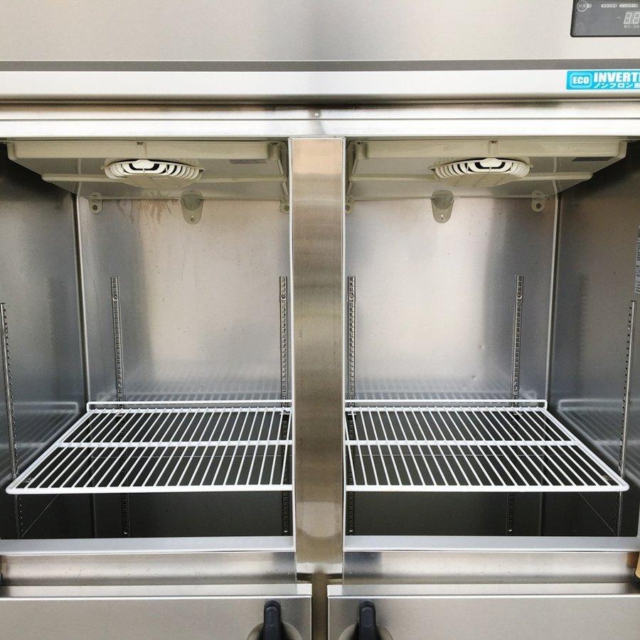 中古 厨房機器 2012年製 大和冷機 業務用 タテ型インバーター制御冷凍庫 403YSSEC 幅1200mm 奥650mm 高1905mm 有効内容積 817L 三相200V 4面ドア