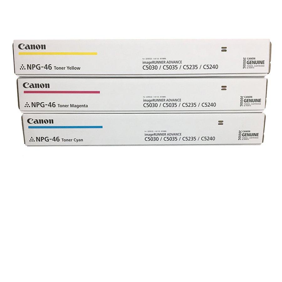 純正トナーカートリッジ キャノン NPG 46 カラー3色セット iR ADVANCE C5030 C5030F C5035 C5035F