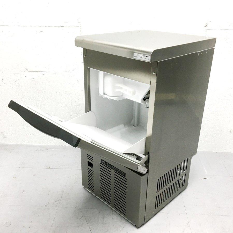 中古 厨房機器 2019年製 大和冷機 業務用製氷機 DRI25LME1 アンダーカウンタータイプ 製氷能力25Kg パーチカルタイプ製氷機 キューブアイス 省エネ 節水モデル