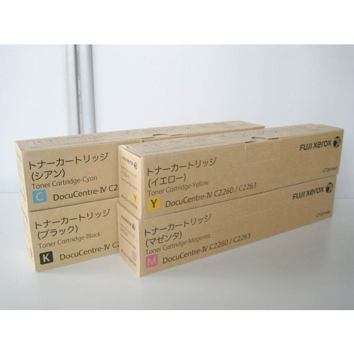 純正トナーカートリッジ 富士ゼロックス CT201444 447 4色セット DocuCentre IV C2260 C2263