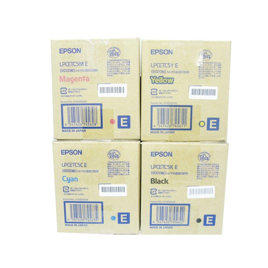 純正トナーカートリッジ エプソン LPCETC5E 4色セット LP C9000C B 7000C 9200C B S5500M 5500F S6500