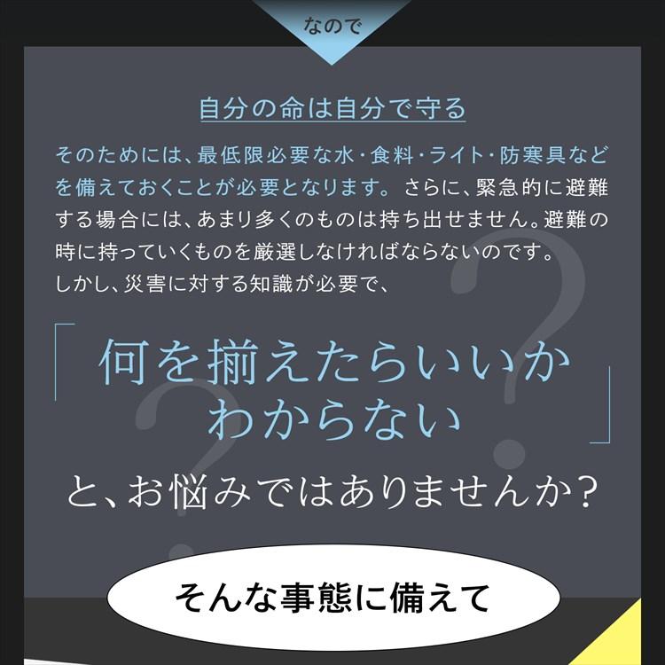防災セットSHELTER(シェルター)1人用【new w】  レスキューライス 防災士監修 厳選防災用品