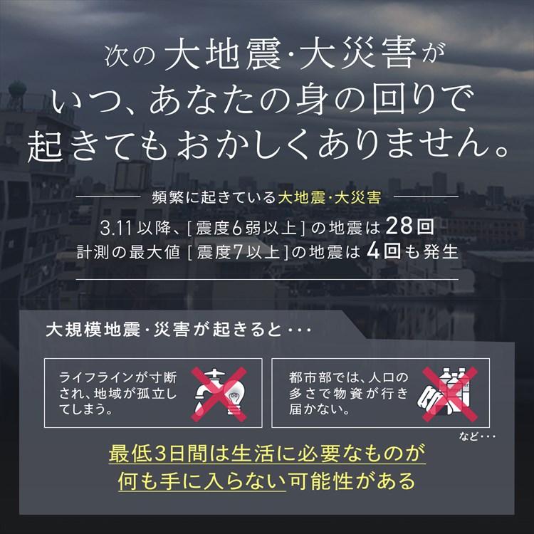 防水仕様 防災セット ラピタプレミアム 3人用【w】  防災士監修【1~3営業日で発送予定】