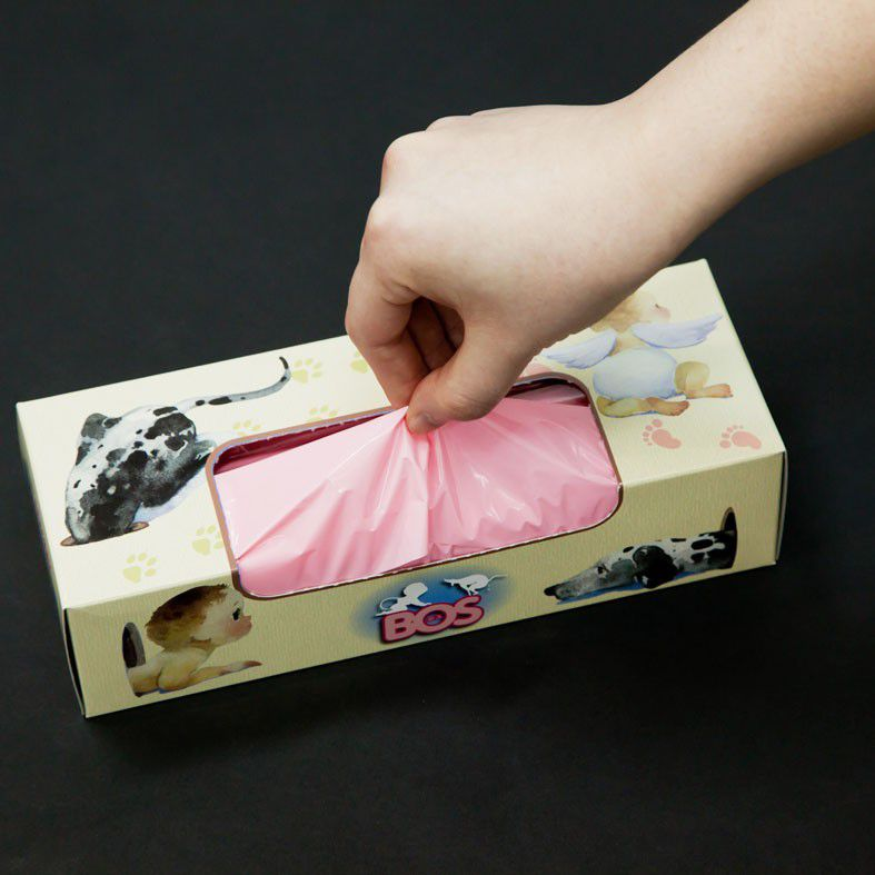 驚異の防臭袋BOS 箱型(Sサイズ200枚入り)【30〜40営業日で発送予定】