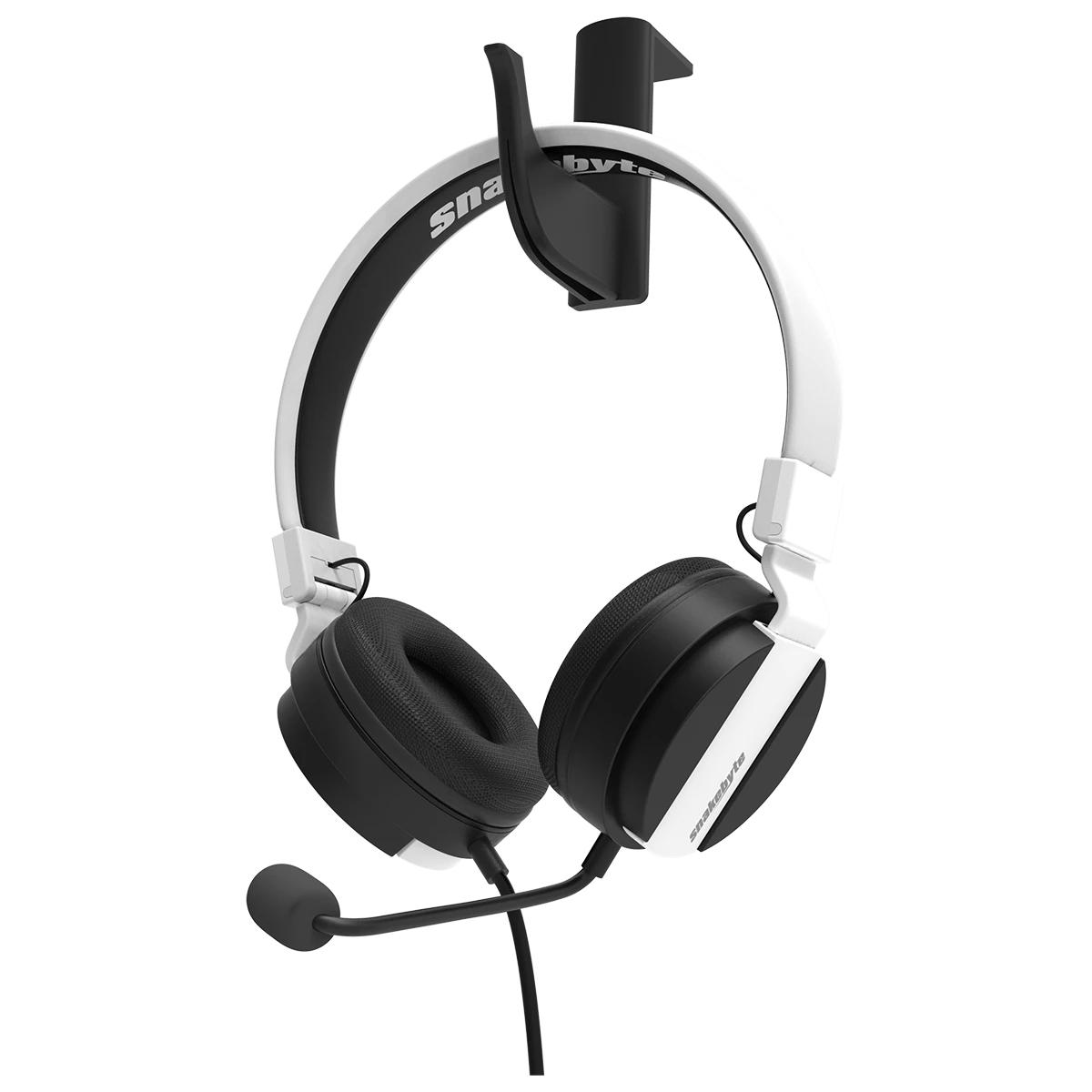 SnakeByte SONY PS5 ステレオヘッドセット HEAD:SET 5™ ヘッド:セット 5 3.5mmジャック 40mmドライバー 着脱可能マイク インラインコントローラー付