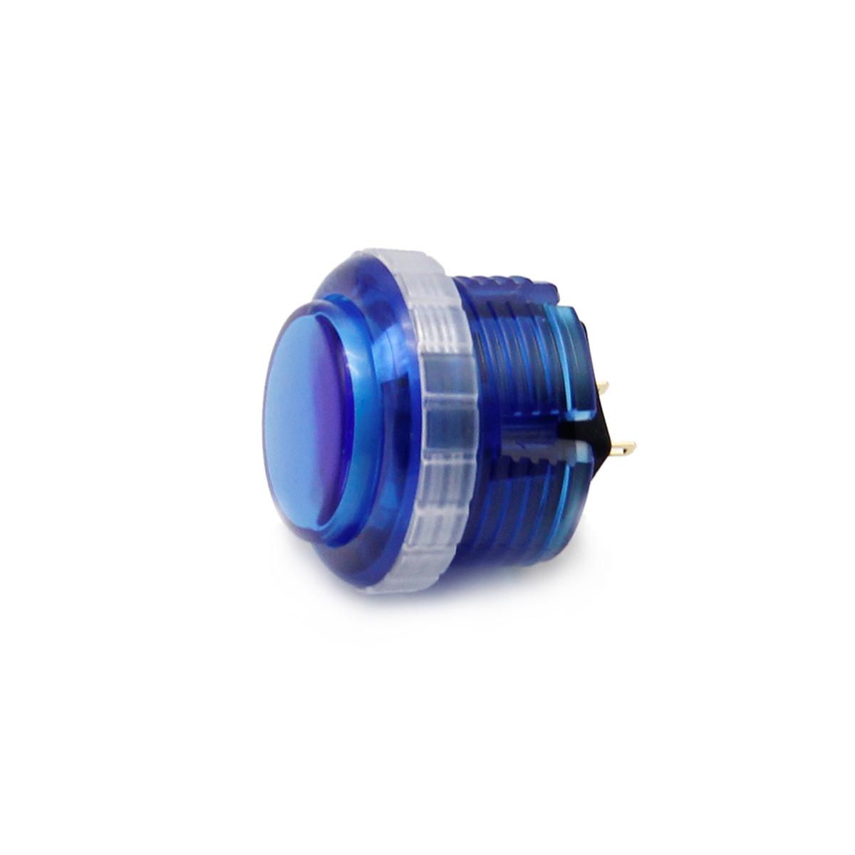 【クリア】Qanba Gravity(グラビティ)メカニカルスイッチ アーケード ボタン 30mm(ネジ式)