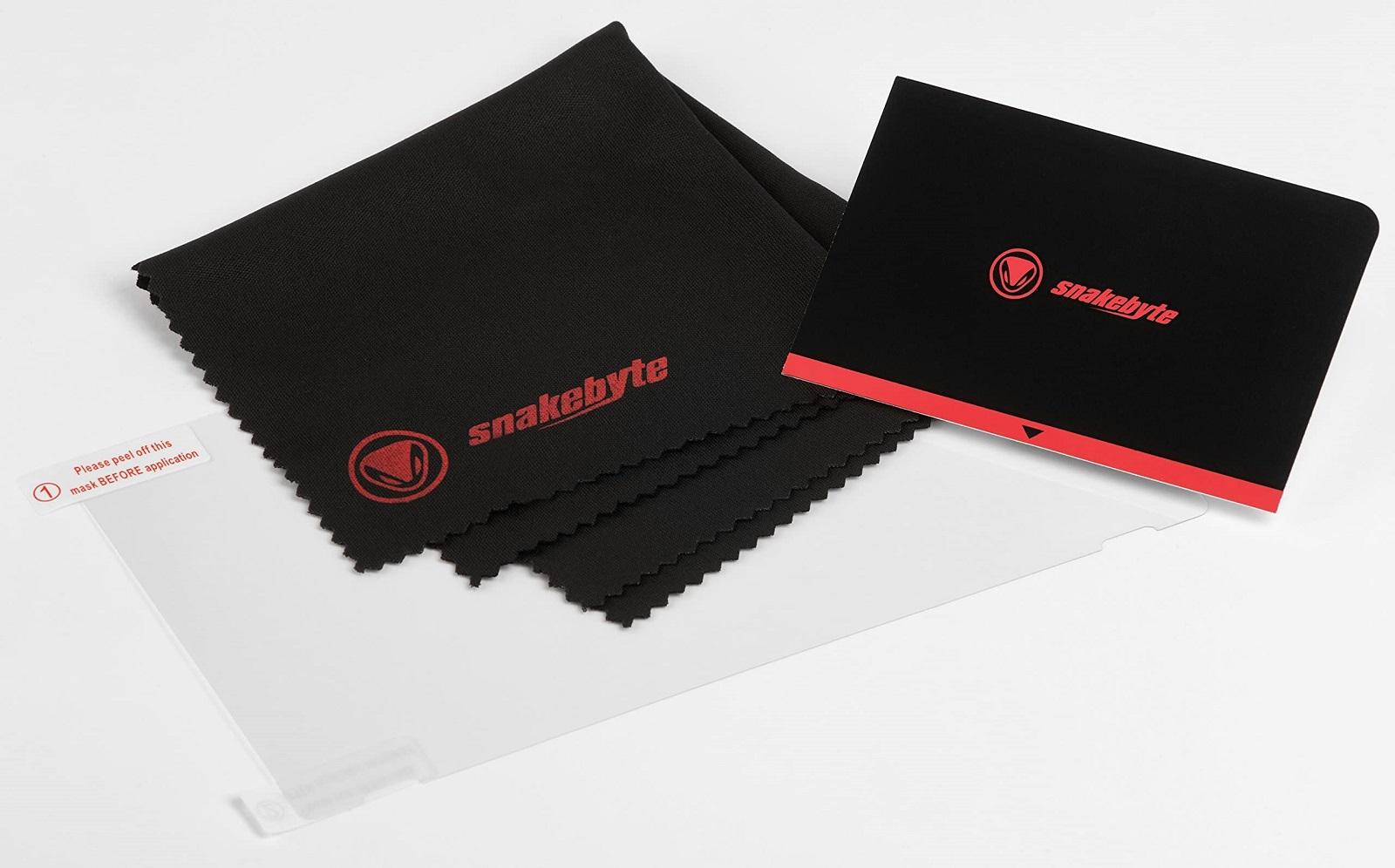 SnakeByte 任天堂 Switch 8in1 キャリーケース & アクセサリー セット STARTER:KIT™ スターター:キット ゲームカードケース フィルム クリーニングクロス ステレオイヤホン ジョイコン保護キャップ 同梱