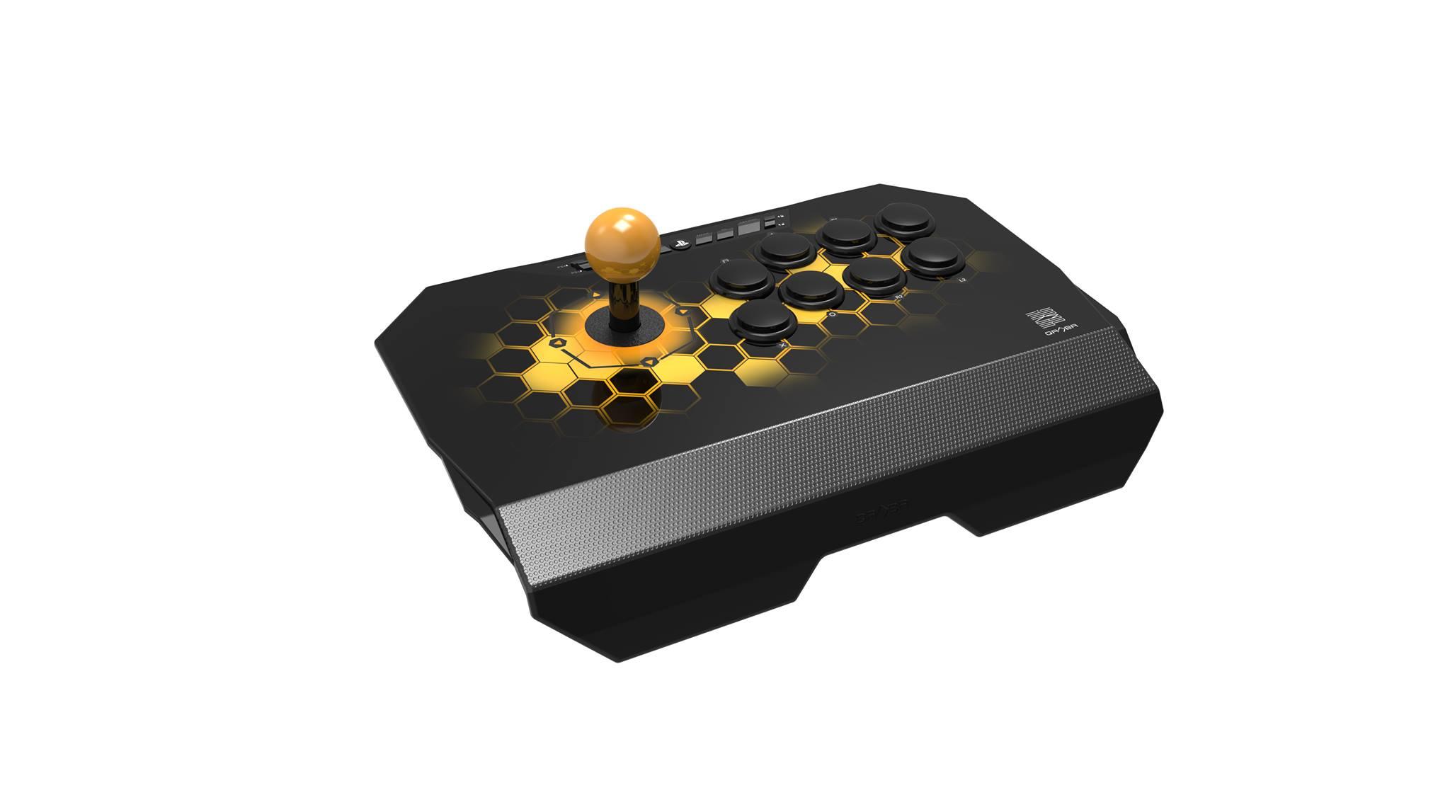 Qanba Drone (ドローン) アーケード ジョイスティック (PlayStation®4 / PlayStation®3 / PC対応) 本格的なアケコンと同じ30mmボタン8個レイアウトを採用