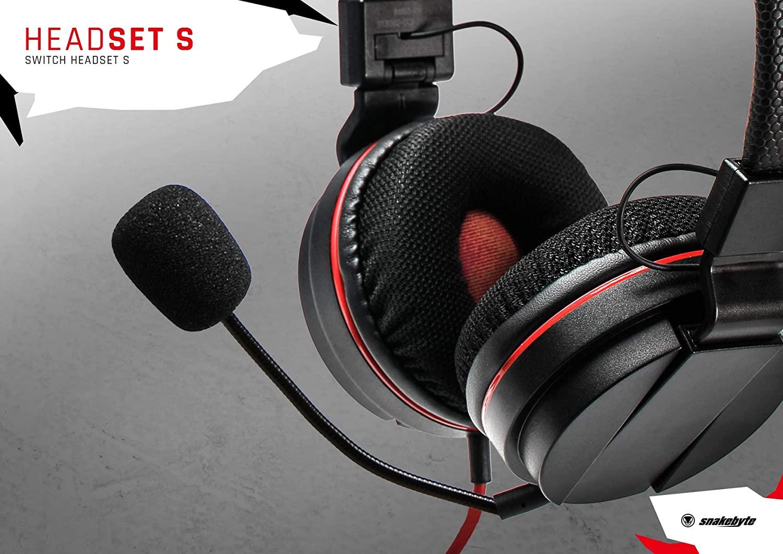 SnakeByte 任天堂 Switch ステレオヘッドセット HEAD:SET S™ ヘッド:セット S 3.5�ジャック 40mmドライバー 着脱可能マイク インラインコントローラー付