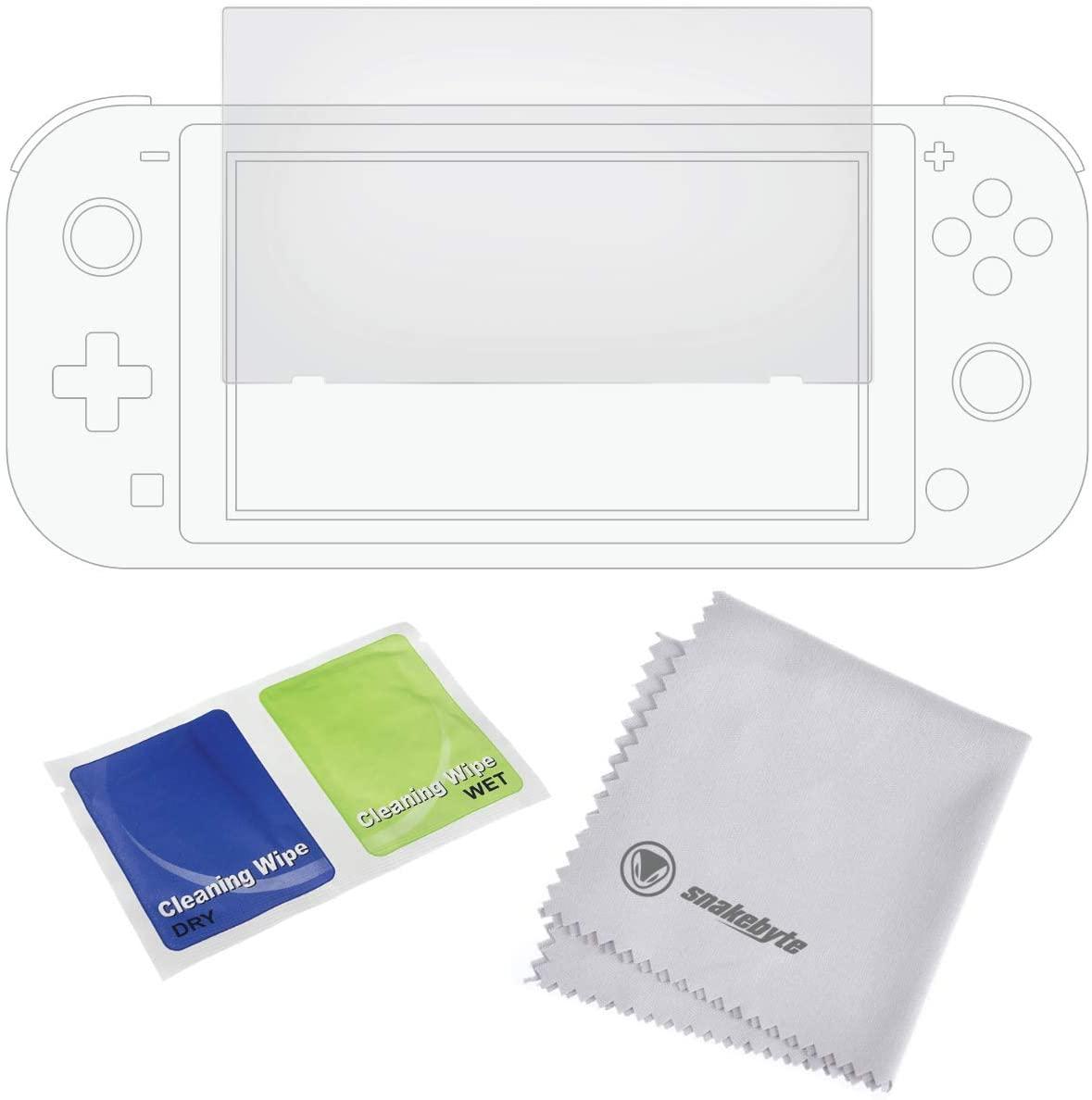 SnakeByte 任天堂 Switch スクリーン強化ガラスフィルム SCREEN:SHIELD PRO™ スクリーン:シールド プロ 強化ガラス製スクリーンプロテクター クリーニングクロス付
