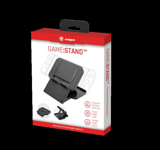 SnakeByte 任天堂 Switch 充電&プレイスタンド GAME:STAND™ ゲーム:スタンド 充電しながらプレイ 折りたたみ 角度調節機能