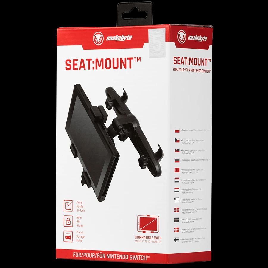 SnakeByte 任天堂 Switch 車載用ヘッドレストマウント SEAT:MOUNT™ シート:マウント 後部座席用マウント 角度高さ調節可能 簡単取付