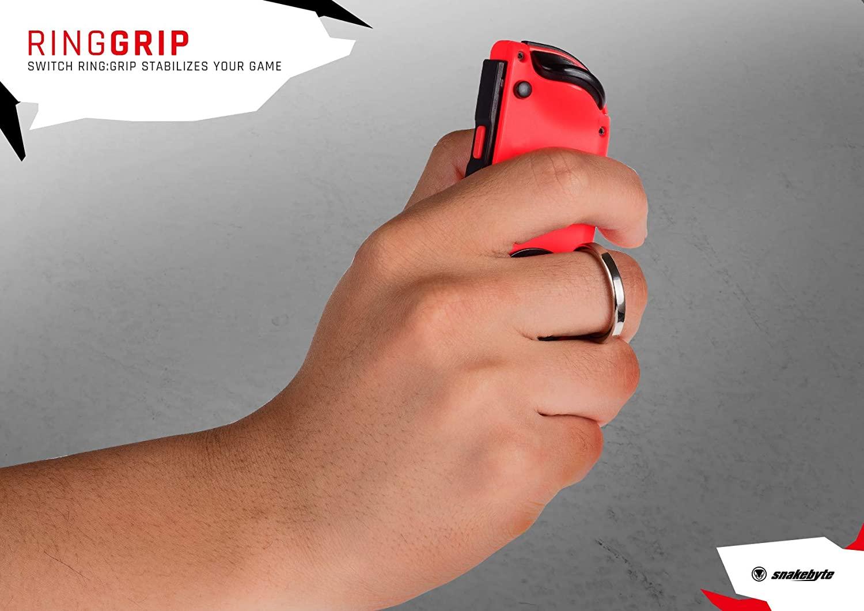 SnakeByte 任天堂 Switch 落下防止リング RING:GRIP™ リング:グリップ 2個セット ジョイコン用 ホールド リング グリップ 360度回転 180度折りたたみ