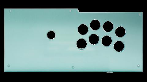 【再入荷しました】 Qanba Obsidian (オブシディアン) アーケード ジョイスティック用 Type-N キット (クリアパネル & メタルプレートキット)