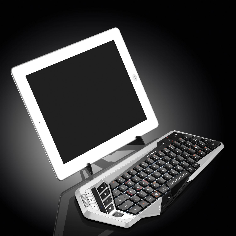 【Mad Catzセール】 STRIKEm ワイヤレス キーボード 最大4台までのBluetooth機器との接続を保存 英語レイアウト