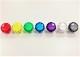 【クリア】三和電子 ハメ込み式押しボタン30φ (ビデオゲームボタンサイズ) OBSC-30-】