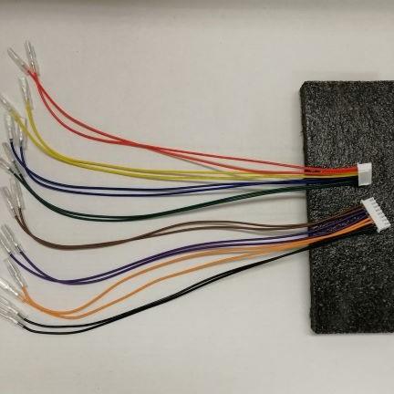 Qanba Obsidian (オブシディアン) アーケード ジョイスティック用 ボタン接続ワイヤーハーネス