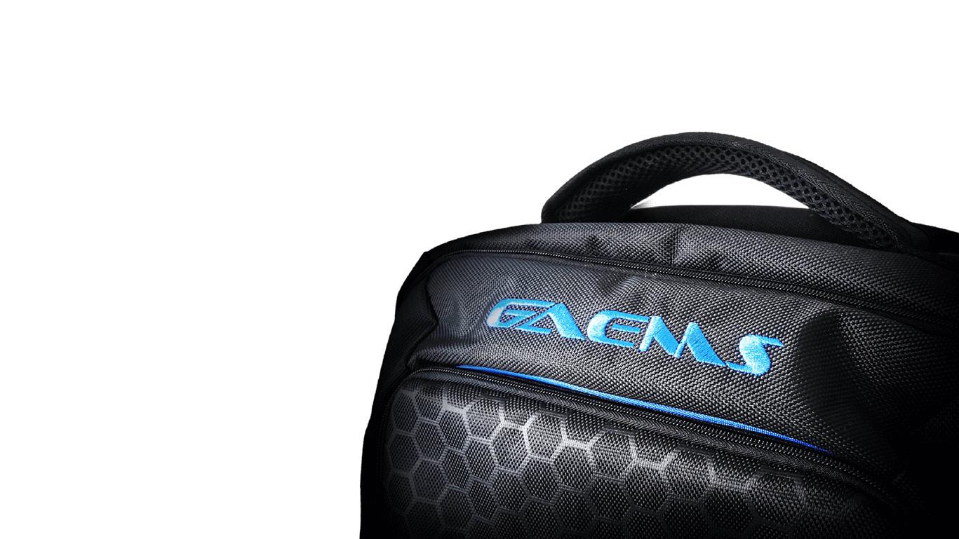 GAEMS HEX PAC (ゲームス ヘックス パック バックパック) ゲーム機本体やヘッドセット M155ディスプレイの持ち運びに便利 収納スペース豊富ドリンクホルダー 肩と腰部に快適パッド