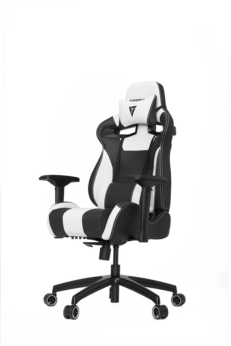 VERTAGEAR (ベルタギア) レーシングシリーズ ゲーミングチェア ブラック/ホワイト VG-SL4000_WT ワイドバックレストのエルゴノミクスデザイン採用