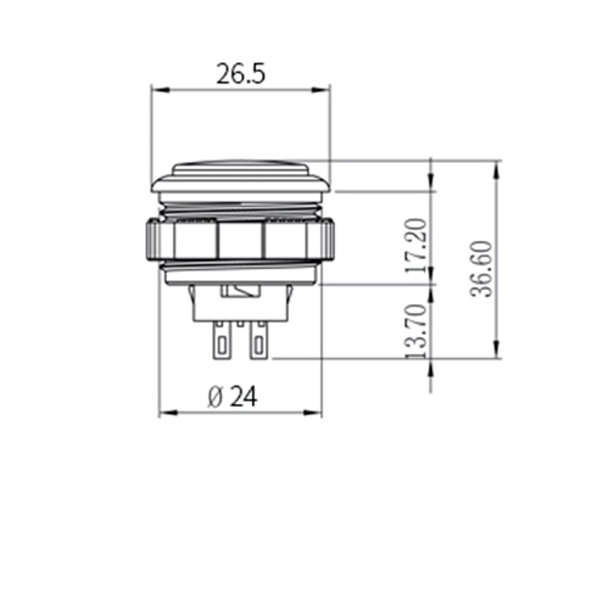 CROWN/Samducksa SDB-202 Cherry Button クラウン チェリー ボタン メタリックカラー 24mm(ネジ式)