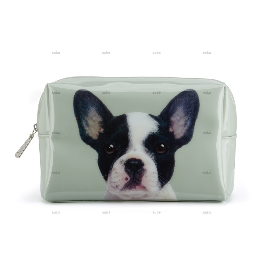 キャッツアイロンドン フレンチブルドッグ ボストンテリア Dog on Stone Large Beaty Bag