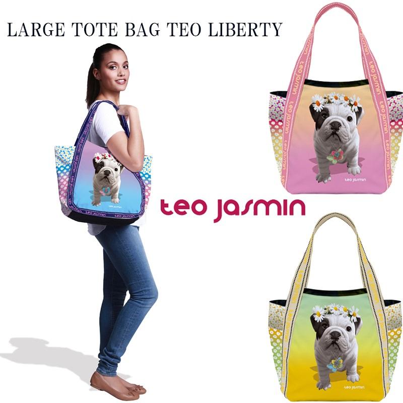【teojasmin/テオジャスマン】 ラージトートバッグ  LARGE TOTE BAG TEO LIBERTY