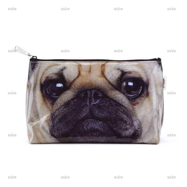 キャッツアイロンドン パグ ポーチ 大きめ Pug  Wash Bag