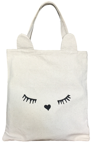 bag-allバッグオール ネコ耳トートホワイト トートバッグ 猫