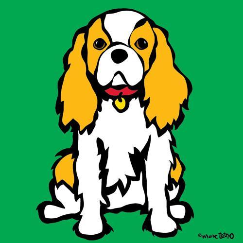 マークテトロ   キャバリアオングリーン キャンバスアート 10インチ×10インチ