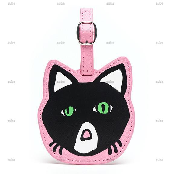 【Marc Tetro】 マークテトロ  ラゲージタグ ねこ Cat Luggage Tag