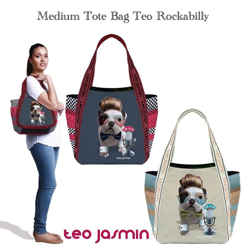teojasmin/テオジャスマン ミディアムトートバッグ Tote bag Teo Rockabilly