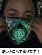 マスク コットンマスク ねこ柄 猫 畜光 耳が痛くなりにくい