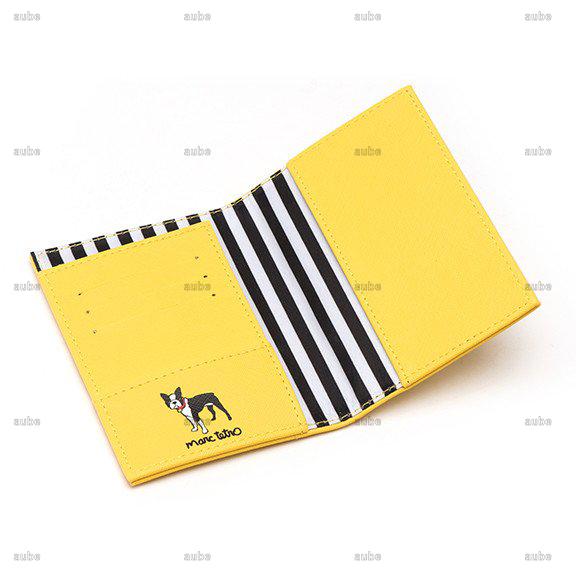 【Marc Tetro】  マークテトロ ボストンテリアパスポートケース Boston Terrier Passport Cover