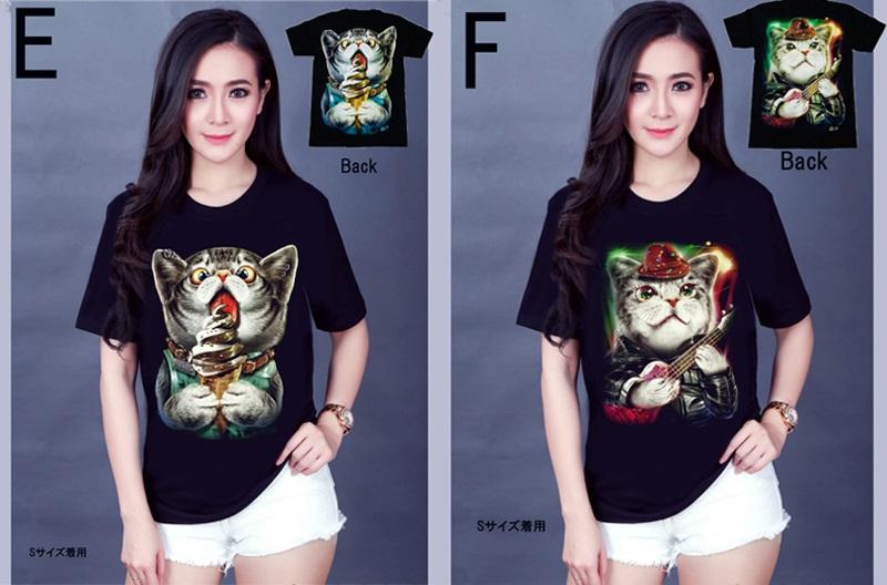 Tシャツ 半袖 ねこ柄 猫柄