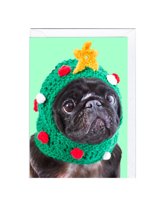 クリスマスカード PUG XMAS CARD パグ