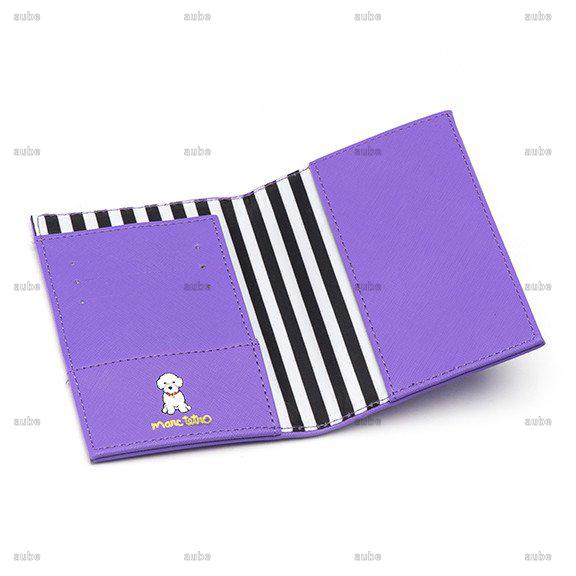 【Marc Tetro】  マークテトロ  ビションフリーゼパスポートケース Bichon Passport Cover