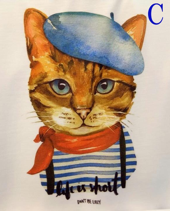 Tシャツ 半袖 猫柄 レディース メンズ