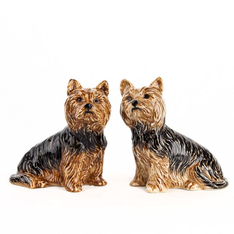 陶器製ドッグオーナメント  Yorkshire Terrier  ヨーキー