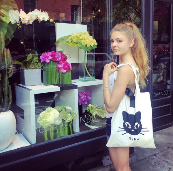 bag-all/バッグオール   Cat face tote with bow