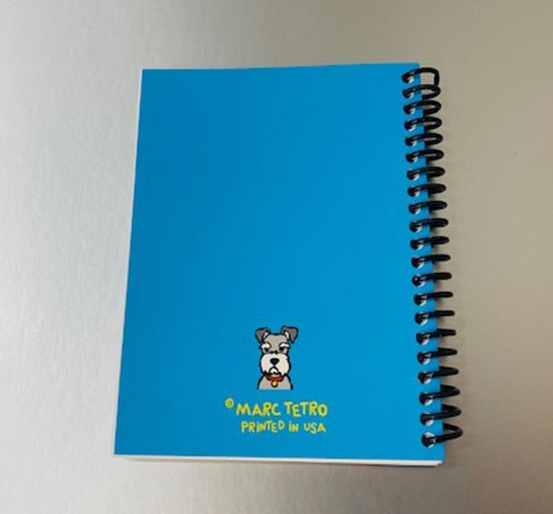 【Marc Tetro】 マークテトロ シュナウザー ノートブック A6サイズ