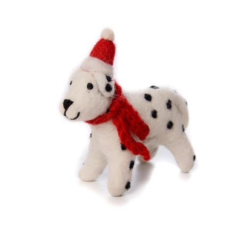 羊毛フェルトToy  ダルメシアン クリスマス  クリスマスオーナメント