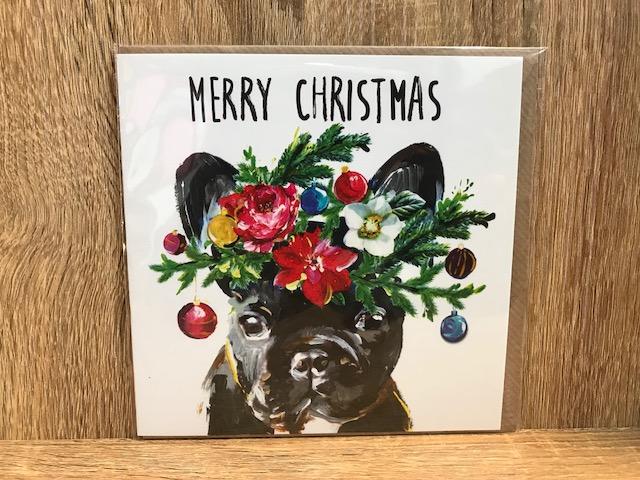 クリスマスカード  フレンチブルドッグ