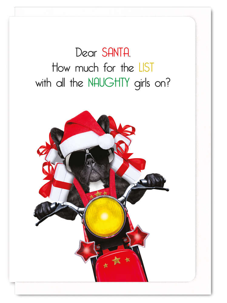 クリスマスカード  Santa's naughty list