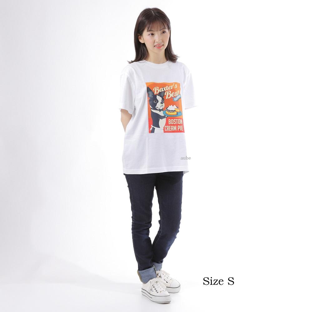 Tシャツ メンズ レディース 半袖 ボストンテリア パグ 5.6オンス